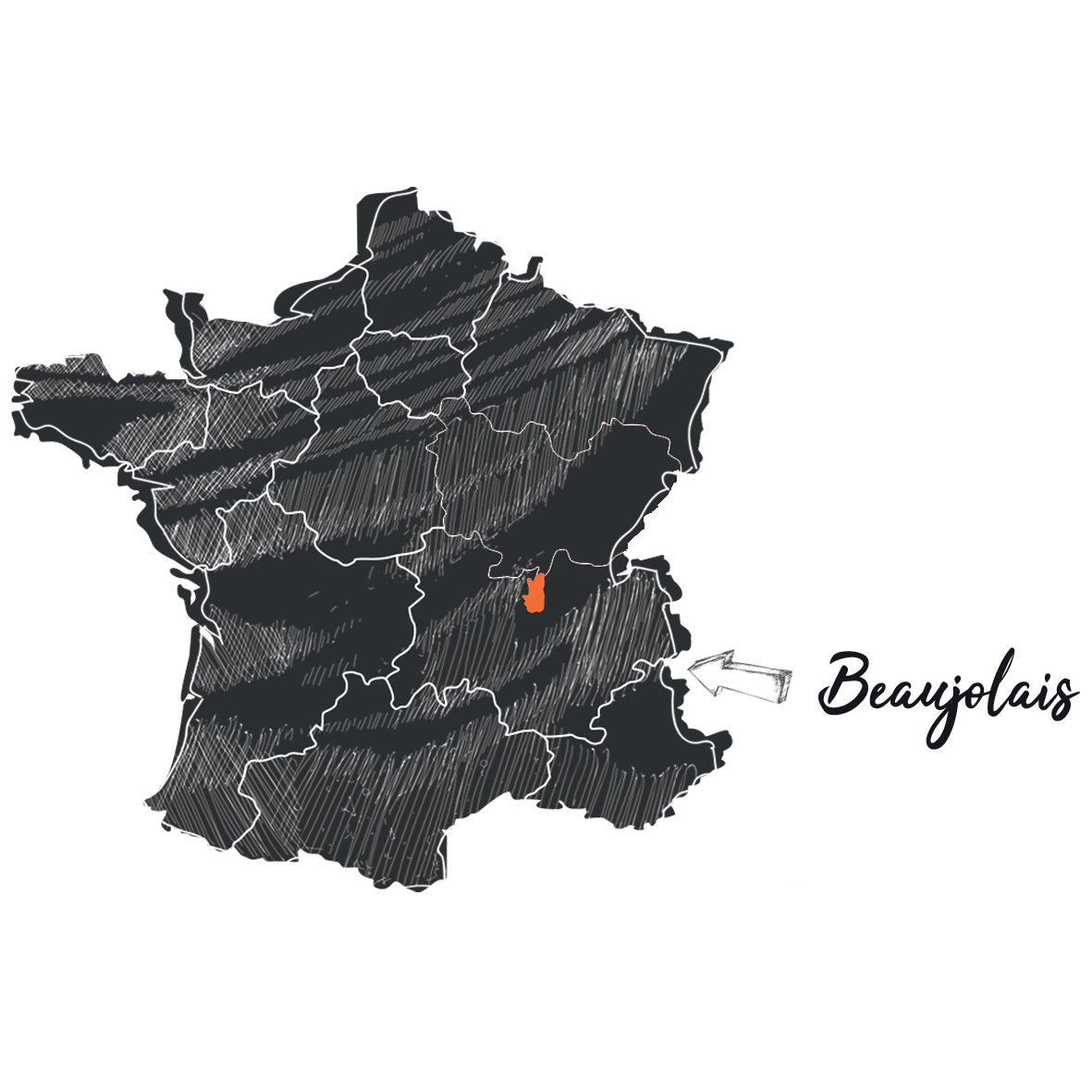 carte vin france beaujolais